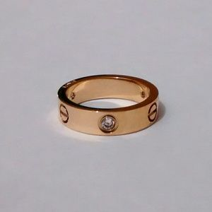 18k gold over stainless screwdriver love ring